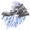 Weather Icon: bouřky